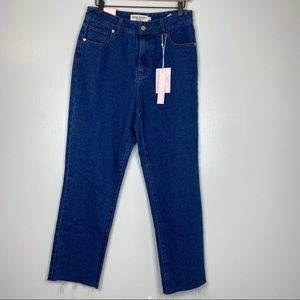 GREAT SMOKY Classic Straight Jeans High Waist